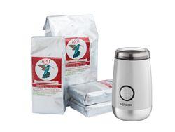 APU Café akciové balenie 4kg + Elektrický mlynček Sencor biely ako darček