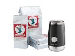 APU Café akciové balenie 4kg + Elektrický mlynček Sencor čierny ako darček