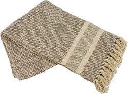 Bavlnená deka Bedford béžová 130 x 170 cm