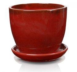 Keramický kvetináč Jena červený 5 veľkostí