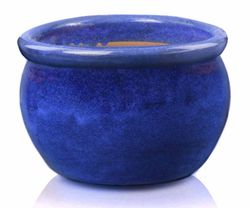 Keramický kvetináč Wiet round pot kobalt veľkosti