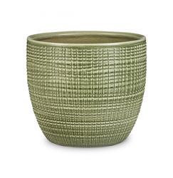 Keramický obal Pottery menta 14 - 16 cm