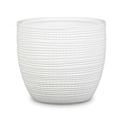 Keramický obal Pottery white 14 - 16 cm