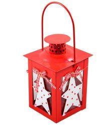 Kovová lucerna Red Star
