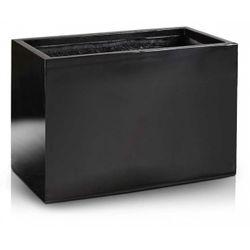 Kvetináč Fiber rectangle black 3 veľkosti