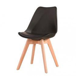 Stolička Tempo Kondela čierna+buk BALI