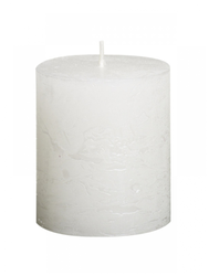 Sviečka Rustik valec biela 80 x 68 mm
