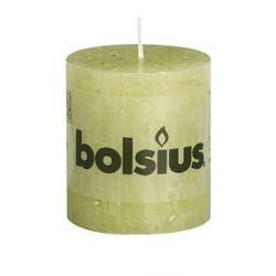 Sviečka Rustik valec zelený pastel 80 x 68 mm
