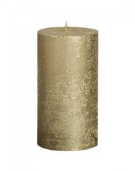 Sviečka Rustik valec zlatá 130 x 68 mm