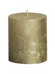 Sviečka Rustik valec zlatá 80 x 68 mm