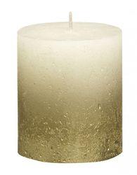 Sviečka Rustik valec zlato-krémová 80 x 68 mm