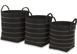 Košíky z textilu Black 3 ks