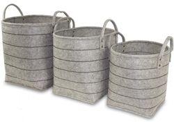 Košíky z textilu Grey 3 ks