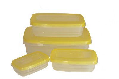 Sada obdĺžnikových nádob 4ks žltá