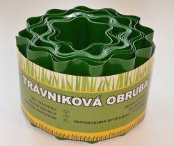 Trávniková obruba zelená 15cm